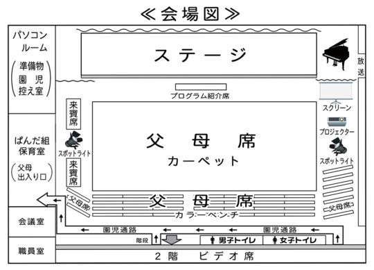 2019 生活発表会 会場案内図